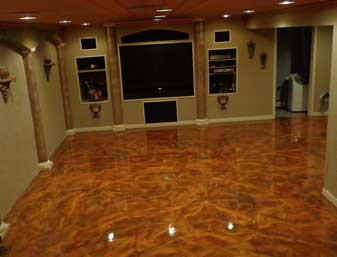 crawfordblue metallic flooring concrete floor polished epoxy showcase usa floorcare chicago il