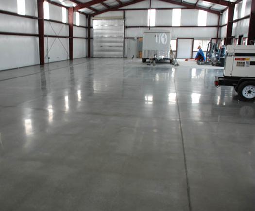 Dark Gray Stained Concrete Floors